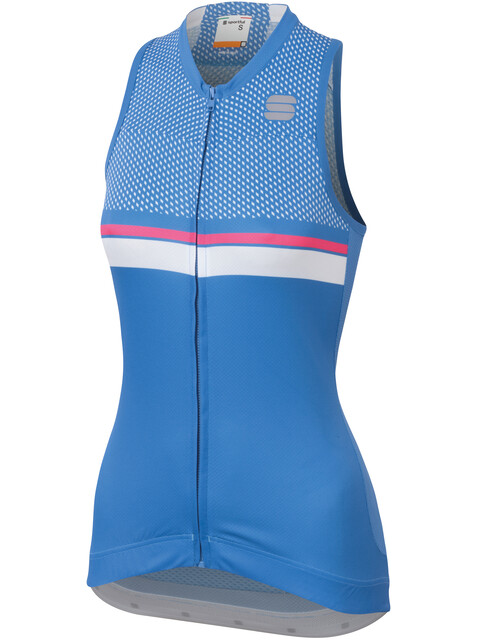 Sportful Diva 2 Sleeveless Jersey Women Parrot Blue/Bubble Gum/White